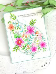 Pinkfresh Studios Paisley Card