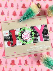 Cross Stitch Card with North Pole Numbers for December Days