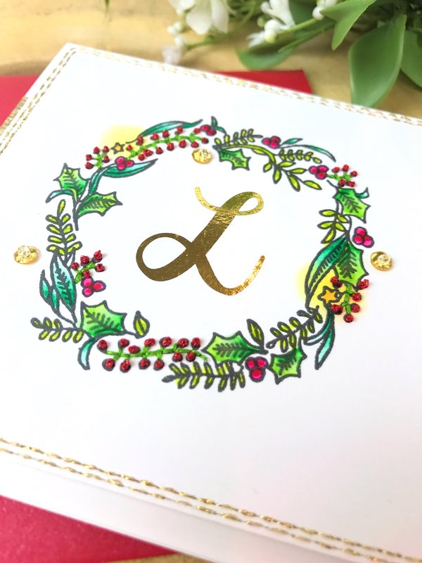 Personalized holiday notecard
