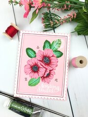 Waffle Flower Wild Roses Card