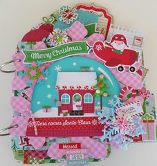 Here Comes Santa Mini Chipboard Album