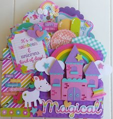 Unicorns and Rainbows Mini Birthday Album Kit