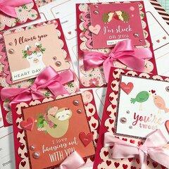 Blank Flat Valentines Cards!