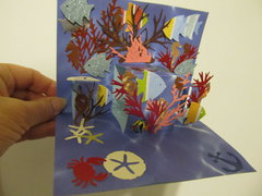 Underwater pop-up card
