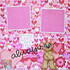 Valentine's LOVE Sweetest Day Scrapbook Page