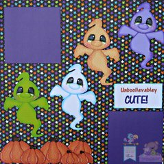 Ghost Scrapbook Page Halloween Layout
