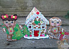3D Gingerbread House with Tear Bears