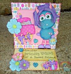 Tear Bear Monster Birthday Card