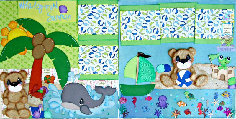 Whaley Fun Tear Bears Summer Scrapbook Pages