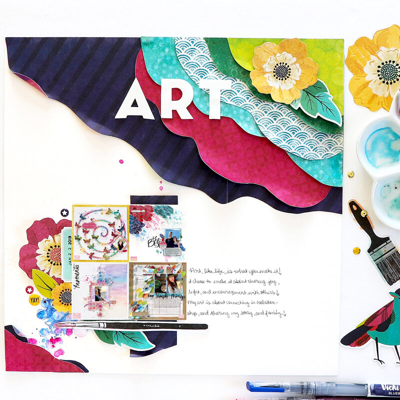 """American Crafts: Learn with Leigh """"Art"""" layout"""