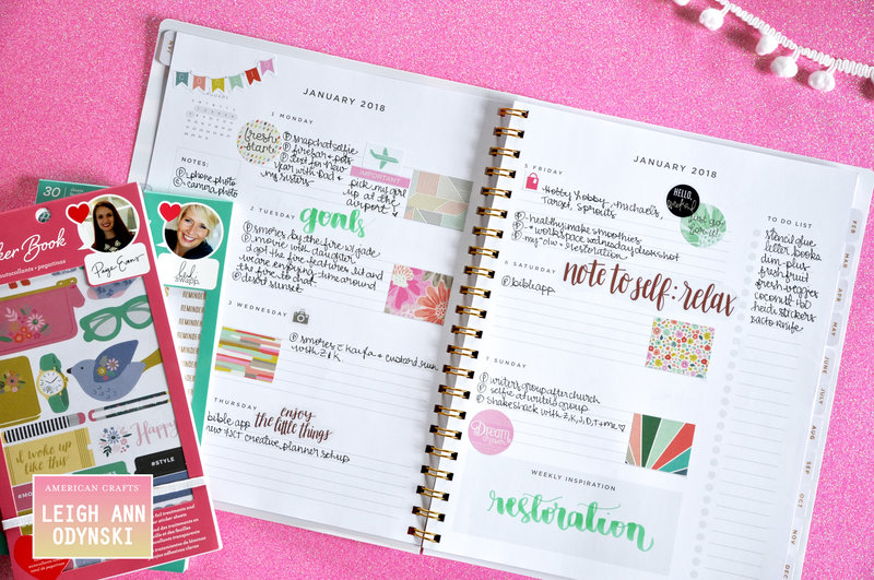 American Crafts DT Planner Weekly Spread and Plan With Me