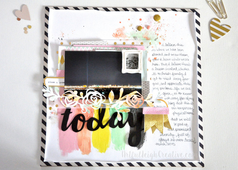 Today: Mixed Media Layout