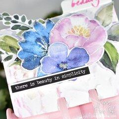 Prima Watercolor Floral Ephemera Memorydex Card