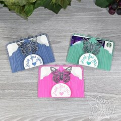Quick & Easy Gift Card Holders Using Graphic 45's Tag, Pocket & Butterfly Dies