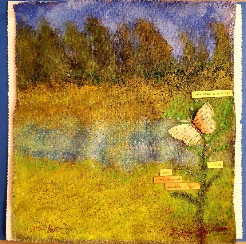 My Burlap Painting:)