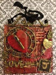 Mixed Media Valentine Mini Canvas