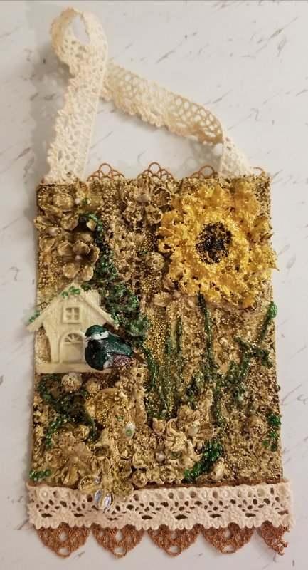 Leftover Scraps~Mixed Meda Small Tag!
