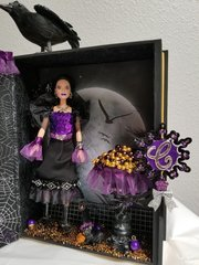 Altered Halloween Barbie And Book Box