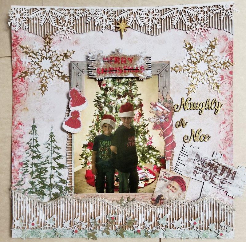~Naughty or Nice~ Christmas 2017 Layout