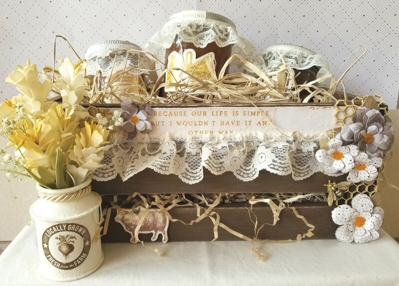 Altered Wooden Gift Crate
