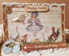 Happy Easter ~Vintage Card ~