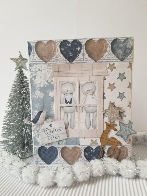 Winter Star Christmas Card