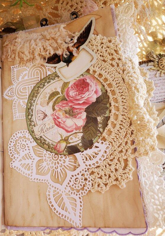 Vintage Flower Garden Journal