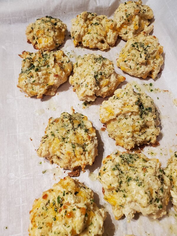 Italian Cheddar Cheese Drop Biscuits