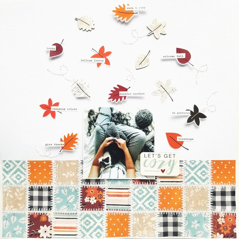 Scrapbooking layout