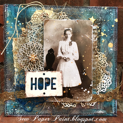 Tim Holtz Altered Scrabble Board Collage