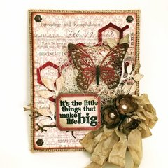 Tim Holtz Burlap Butterfly Panel