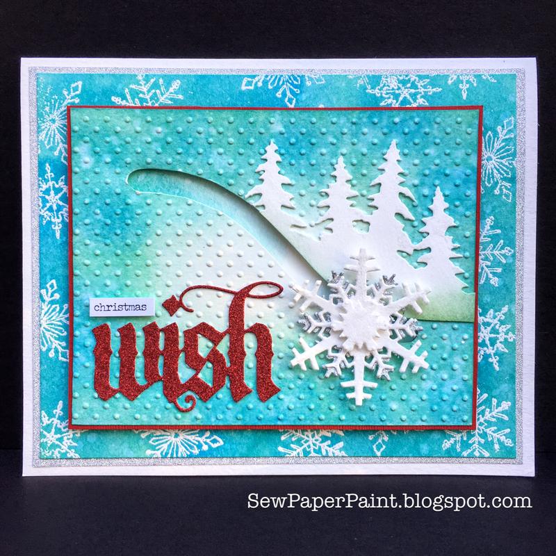 Interactive Tim Holtz Snowflake Spinner Card