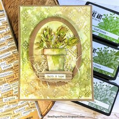 Wendy Vecchi Ranger Ink Potted Succulent Card