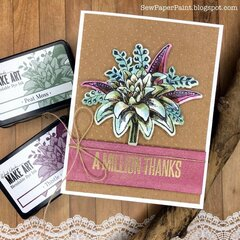 Wendy Vecchi Ranger Ink A Million Thanks Card