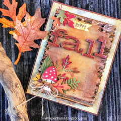 Tim Holtz Funky Foliage Fall Card
