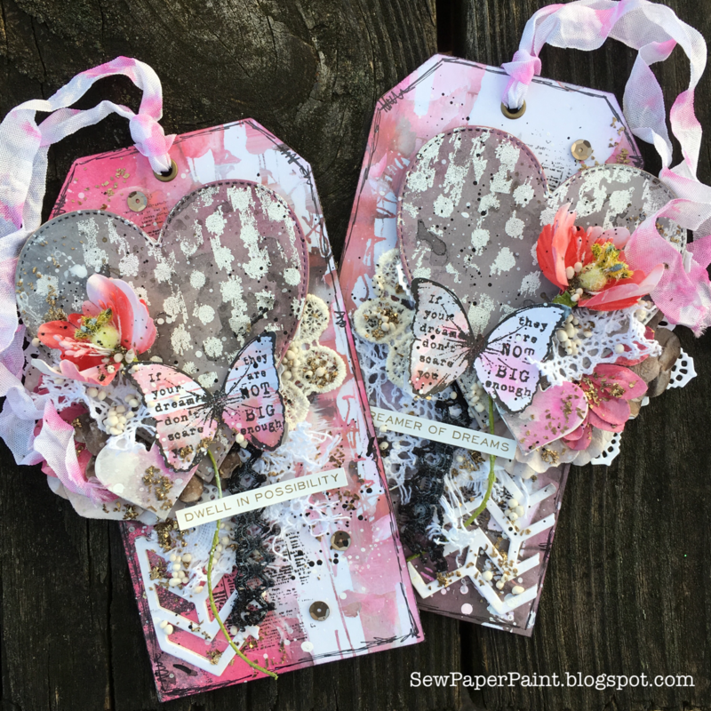 Prima Valentine Mixed Media Tags