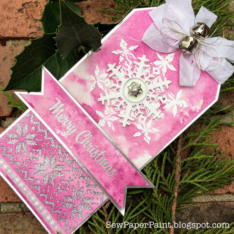 Tim Holtz Purple Snowflake Nordic Christmas Tag