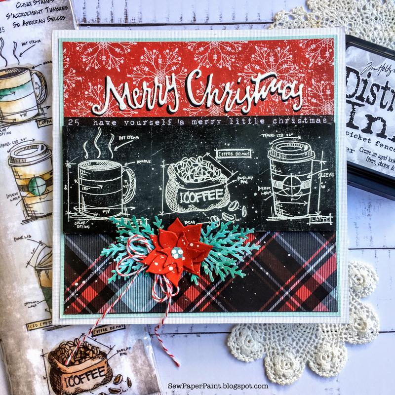 Tim Holtz Christmas Tea Time Blueprints