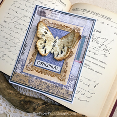 Tim Holtz Layered Tattered Butterfly Card