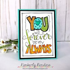 Card using Coloring Page