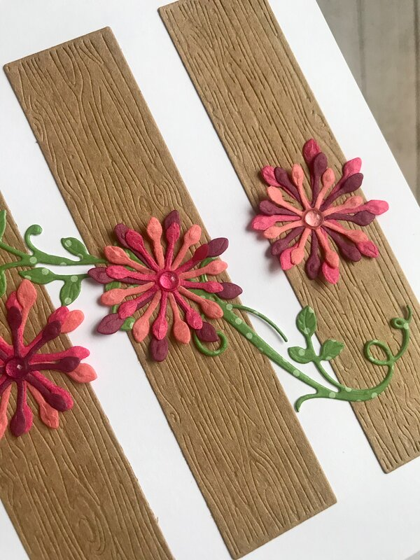 Wooden Planks with Flowers