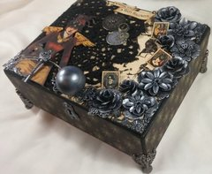 Upcycled Halloween Footed Box