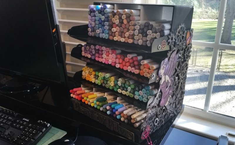 Upcycled Letter Tray Marker Storage