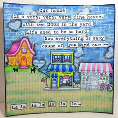 """""""Our House"""" Art Journaling A Song"""