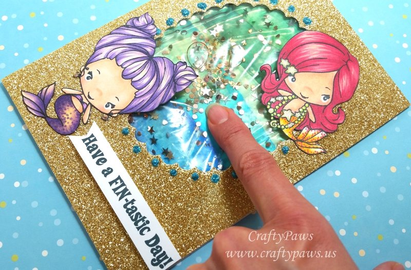 Water Shaker Mermaid Birthday Card