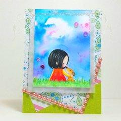 Watercolored Card