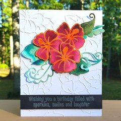 Watercolored and Faux Embossed Card