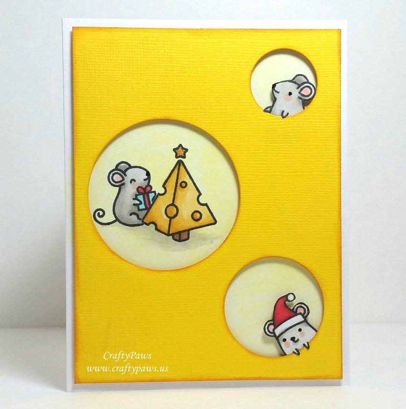 Cheesy Christmouse Card