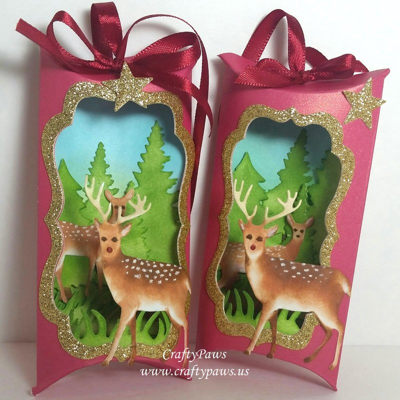 Pillow Shadow Box Christmas Card Ornaments