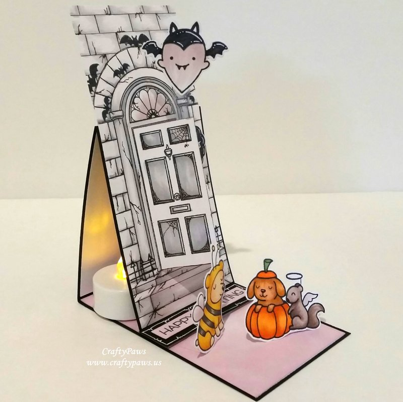 Interactive Halloween Easel Card / Tea Light Holder